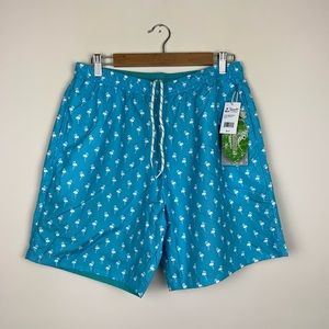 Islandia Men's Reversible Flamingo Swim Trunks NWT